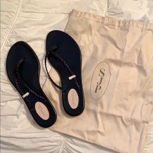 SJP leather flip flop sandals